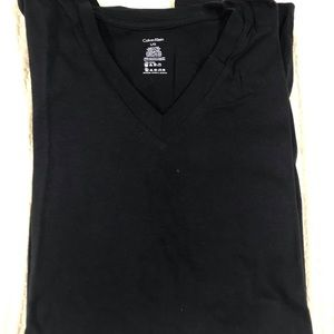 Calvin Klein Men's large t-shirt 100% cotton Black